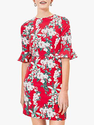 Oasis Floral Shift Mini Dress, Red