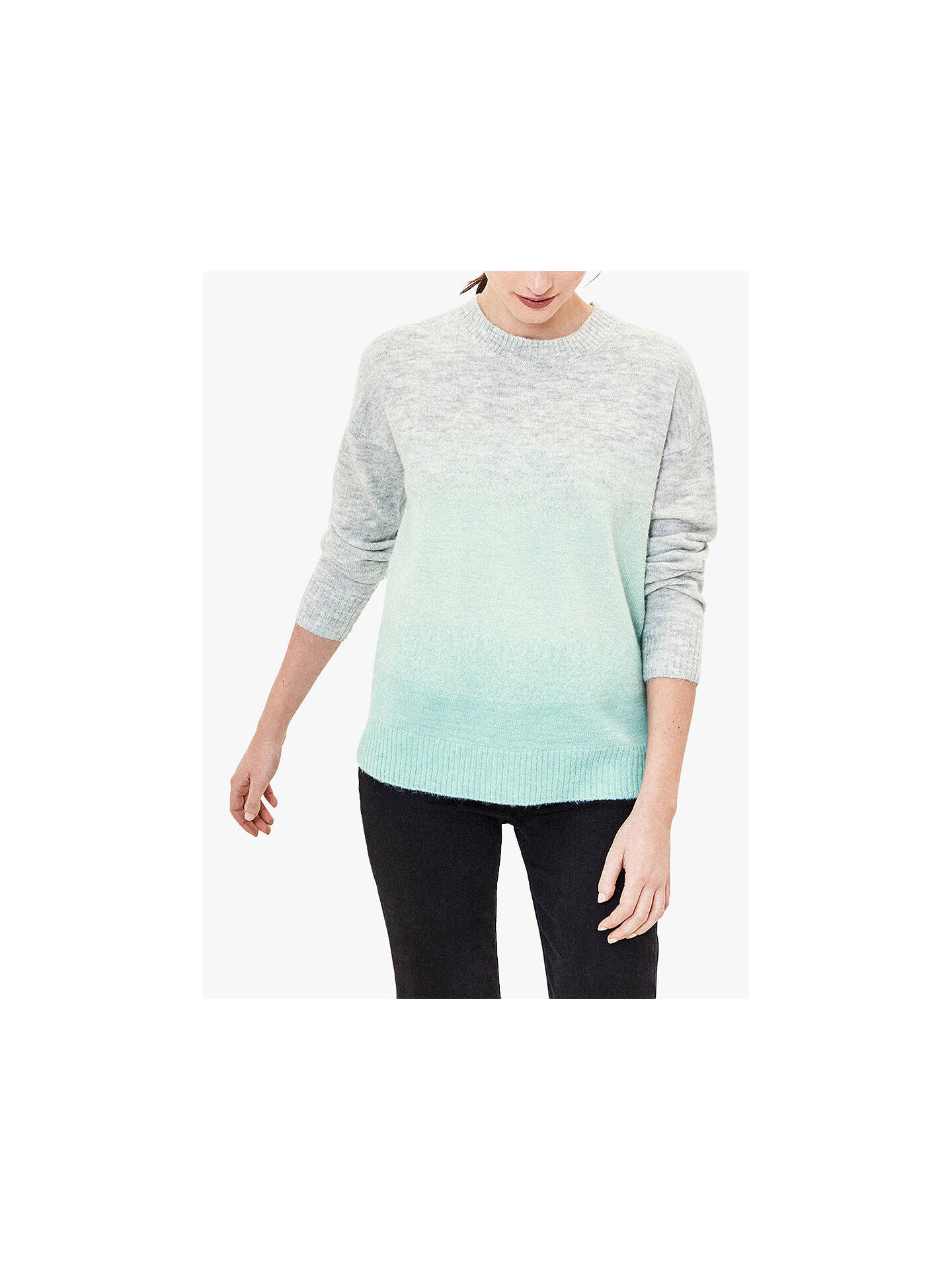Oasis Ombre Fluffy Knit Jumper, MultiGreen at John Lewis