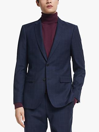 Kin Subtle Check Slim Fit Suit Jacket, Navy