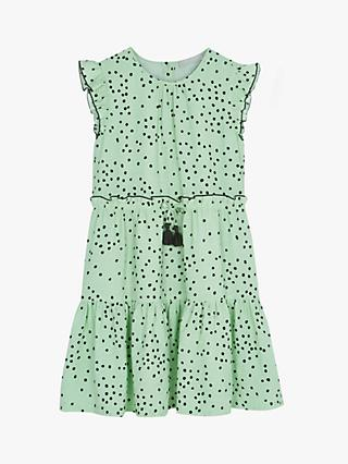 Mintie by Mint Velvet Girls' Lila Spotted Dress, Mint Green