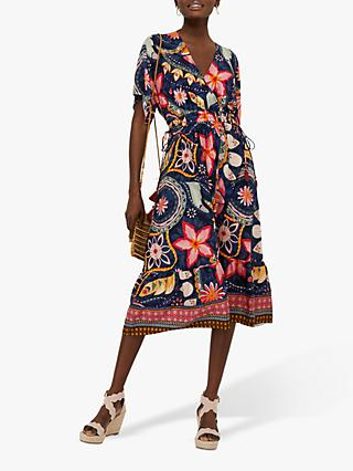Monsoon Rhonda EcoVero Midi Dress, Multi