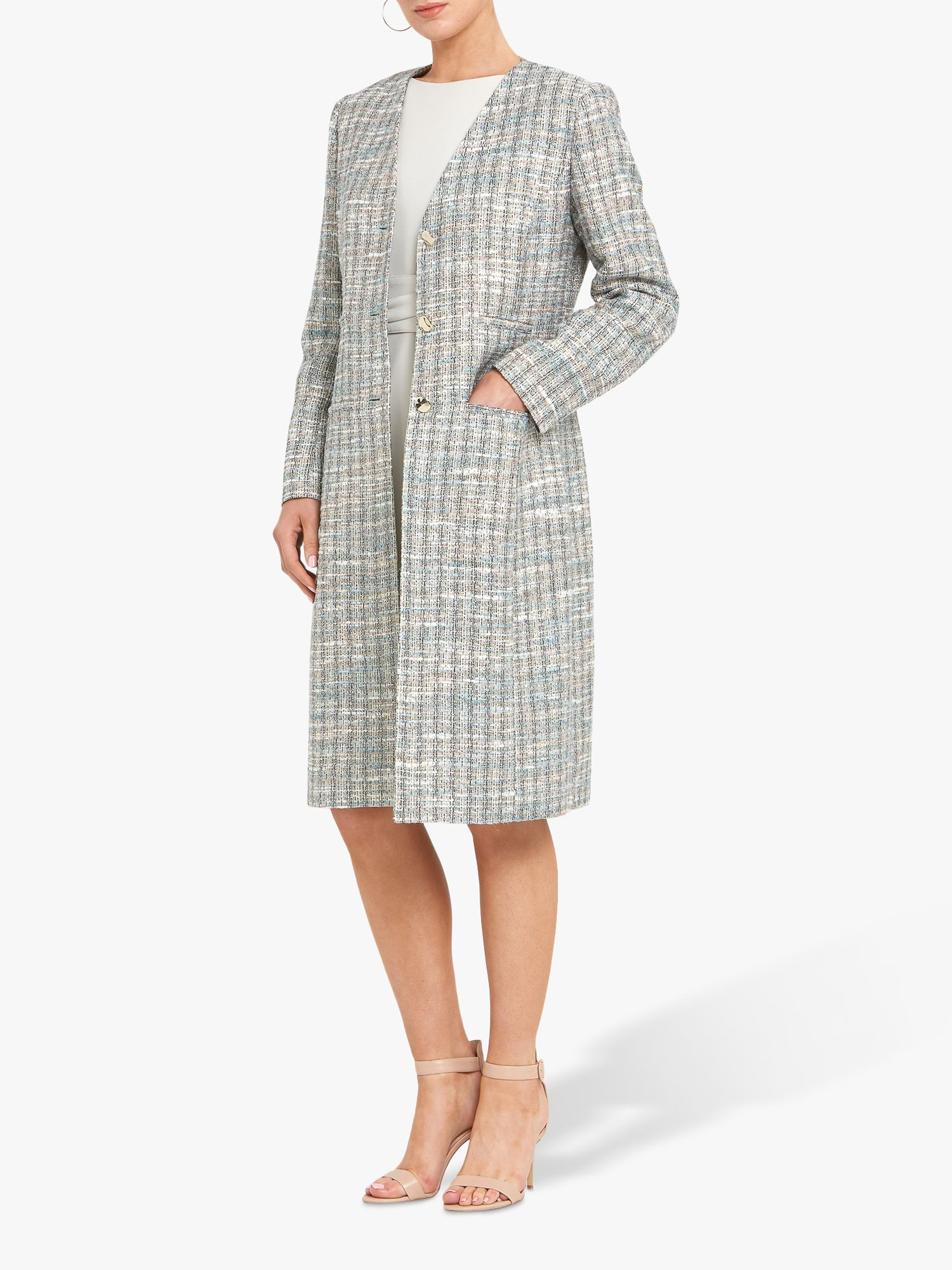 Helen McAlinden Helen McAlinden Kriss Tweed Knee Length Coat, Multi