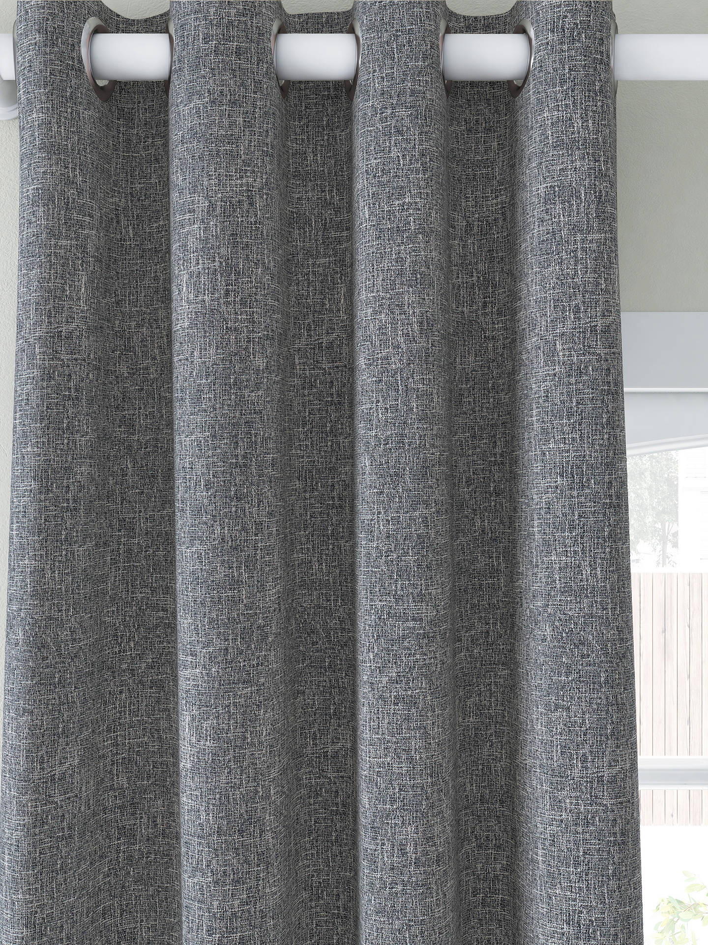 Buy John Lewis & Partners Boucle Pair Blackout Lined Eyelet Curtains, Loch Blue, W167 x Drop 137cm Online at johnlewis.com