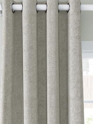 John Lewis & Partners Chenille Pair Blackout Lined Eyelet Curtains