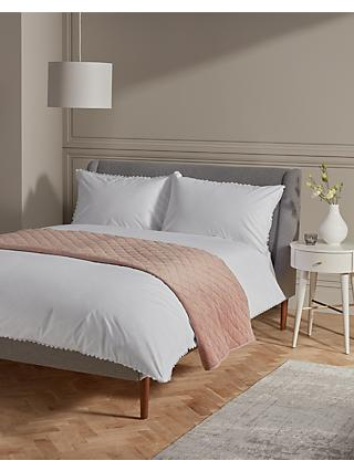 John Lewis & Partners Lace Trim Edge Bedding