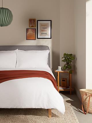ANYDAY John Lewis & Partners Stripe Seersucker Duvet Cover Set