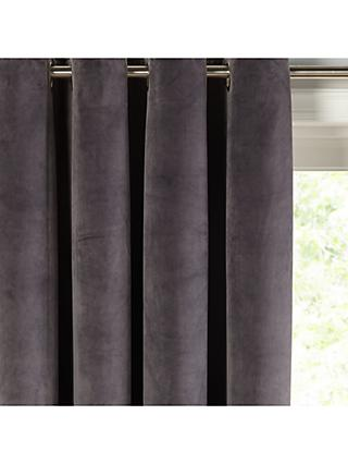 John Lewis & Partners Velvet Pair Lined Eyelet Curtains