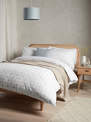 John Lewis & Partners Woven Check Duvet Cover Set