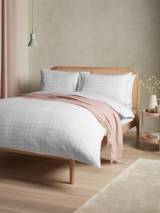 John Lewis & Partners Woven Stitch Check Duvet Cover Set