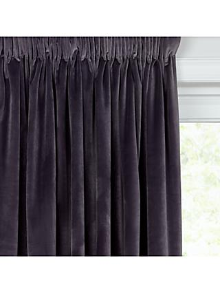 John Lewis & Partners Velvet Pair Lined Pencil Pleat Curtains