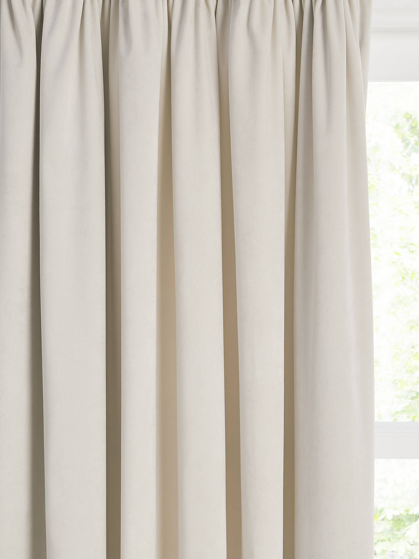 Buy John Lewis & Partners Velvet Pair Lined Pencil Pleat Curtains, Champagne, W167 x Drop 137cm Online at johnlewis.com