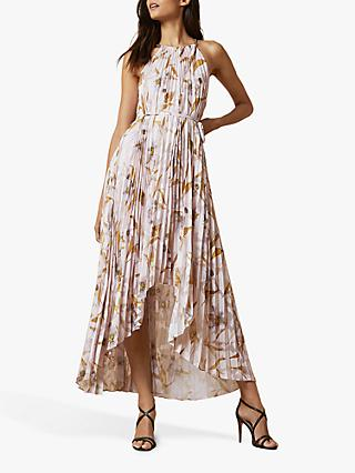 Ted Baker Dixxie Cabana Pleated Maxi Dress, Light Pink