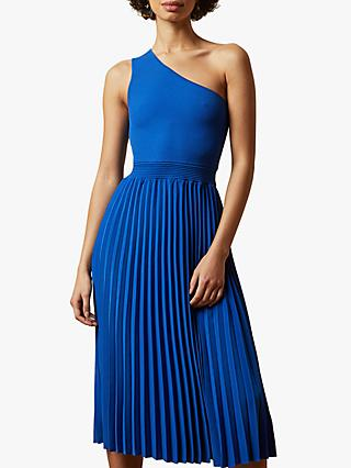Ted Baker Miriom Asymmetric Shoulder Pleat Dress