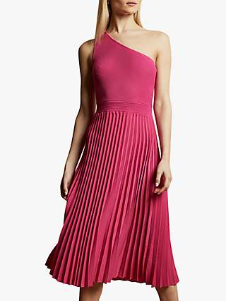 Ted Baker Miriom Asymmetric Shoulder Pleat Dress
