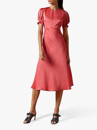 Ted Baker Blaer Satin Midi Dress, Pink