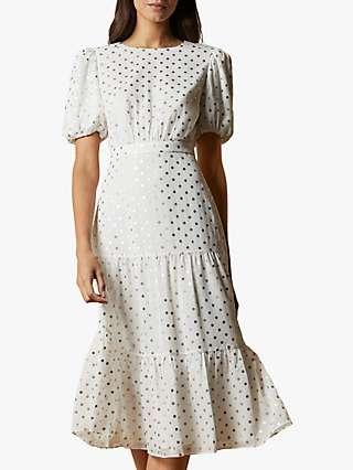 Ted Baker Mariani Spot Dress, Ivory
