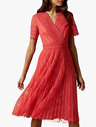 Ted Baker Sonyyia Lace Dress, Coral Orange