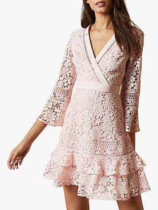 Ted Baker Nello Mini Dress, Pink Pastel