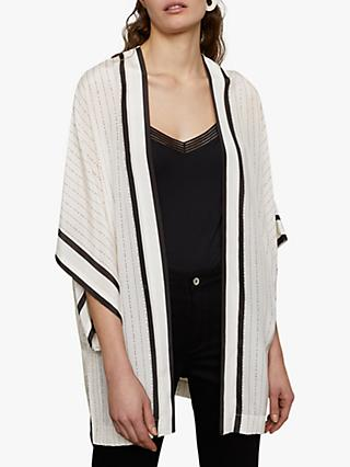 Jigsaw Linear Silk Cape, Cream