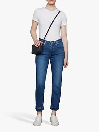 Jigsaw Mid Rise Cropped Jeans, Vintage Blue