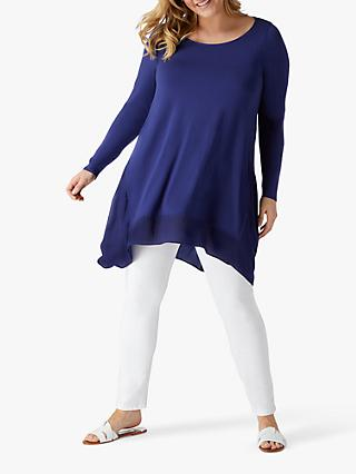 Live Unlimited Curve Jersey Tunic Top, Blue Indigo