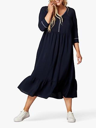 Live Unlimited Curve Plain Midi Dress, Navy