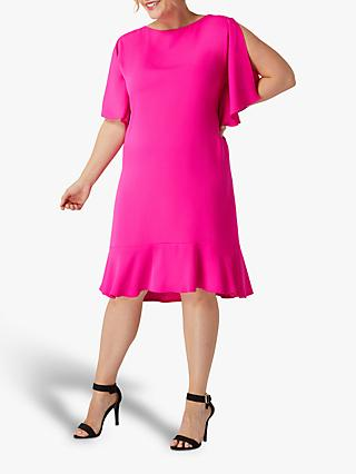 Live Unlimited Curve Fluted Sleeve Dress, Fuchsia Pink