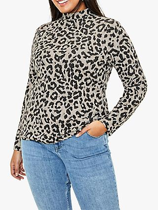 Oasis Curve Animal Print Blouse, Neutral