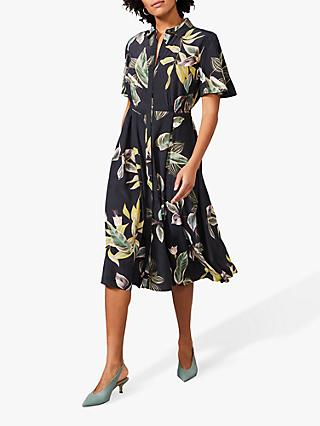 Phase Eight Hermy Floral Shirt Dress, Carbon/Multi