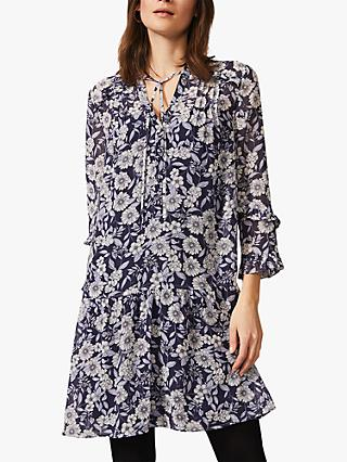 Phase Eight Sassie Floral Dress, Blue