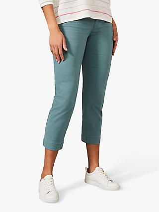 Phase Eight Ramona Straight Cropped Jeans, Jade