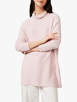 Phase Eight Rimona Stitch Tunic, Pale Pink