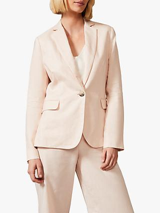 Phase Eight Keller Linen Jacket, Dusty Pink