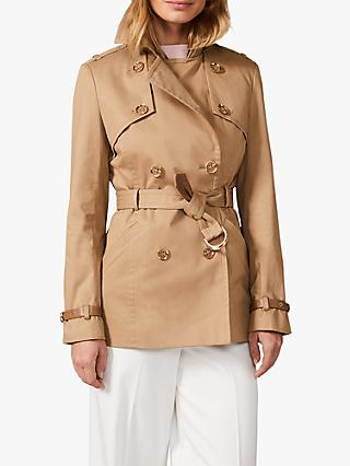 Phase Eight Sainte Short Belted Trench Coat, Tan