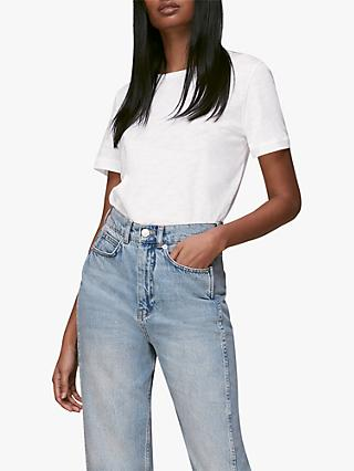 Whistles Emily Ultimate Cotton T-Shirt, White