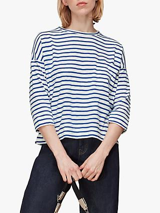Whistles Cotton Pocket Stripe Top