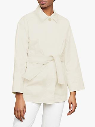 Jigsaw Fine Drill Belted Utility Jacket, Off White