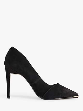 Ted Baker Axealli Suede Stiletto Court Shoes, Black