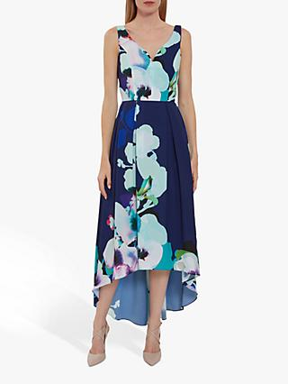Gina Bacconi Brenna Floral Midi Dress, Navy