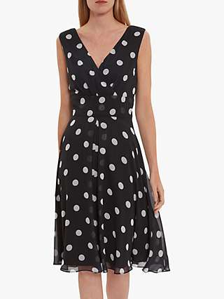 Gina Bacconi Saphira Polka Dot Dress