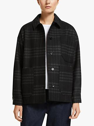 Kin Check Donkey Jacket, Black