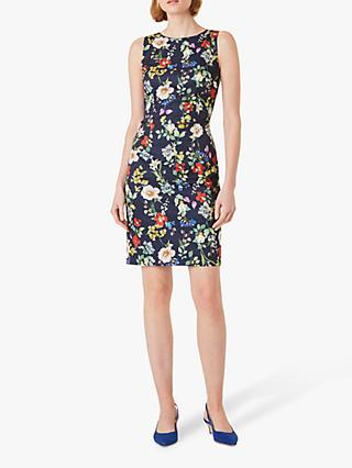 Hobbs Moira Floral Print Mini Dress, Midnight/Multi