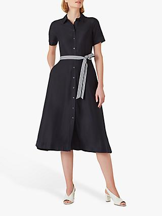 Hobbs Rosaleen Midi Dress, Navy