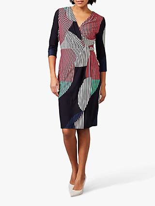 Phase Eight Safiya Stripe Wrap Dress, Multi