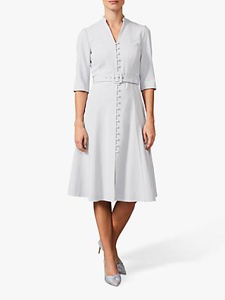 Phase Eight Iona Coat Midi Dress, Dusty Blue