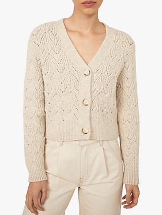 Warehouse Stitched Crop Cardigan