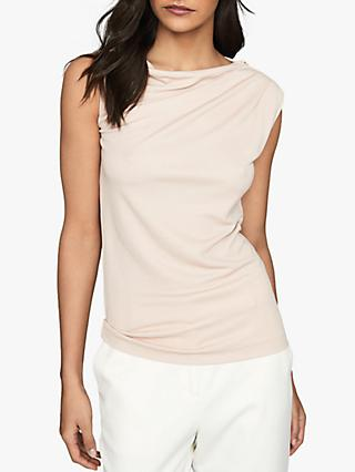 Reiss Flavia Jersey Cowl Neck Top