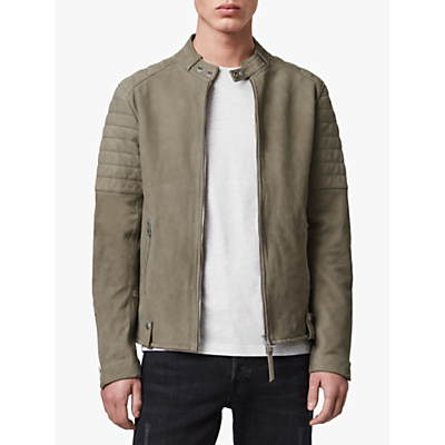 AllSaints Eton Suede Jacket, Dark Cement Grey