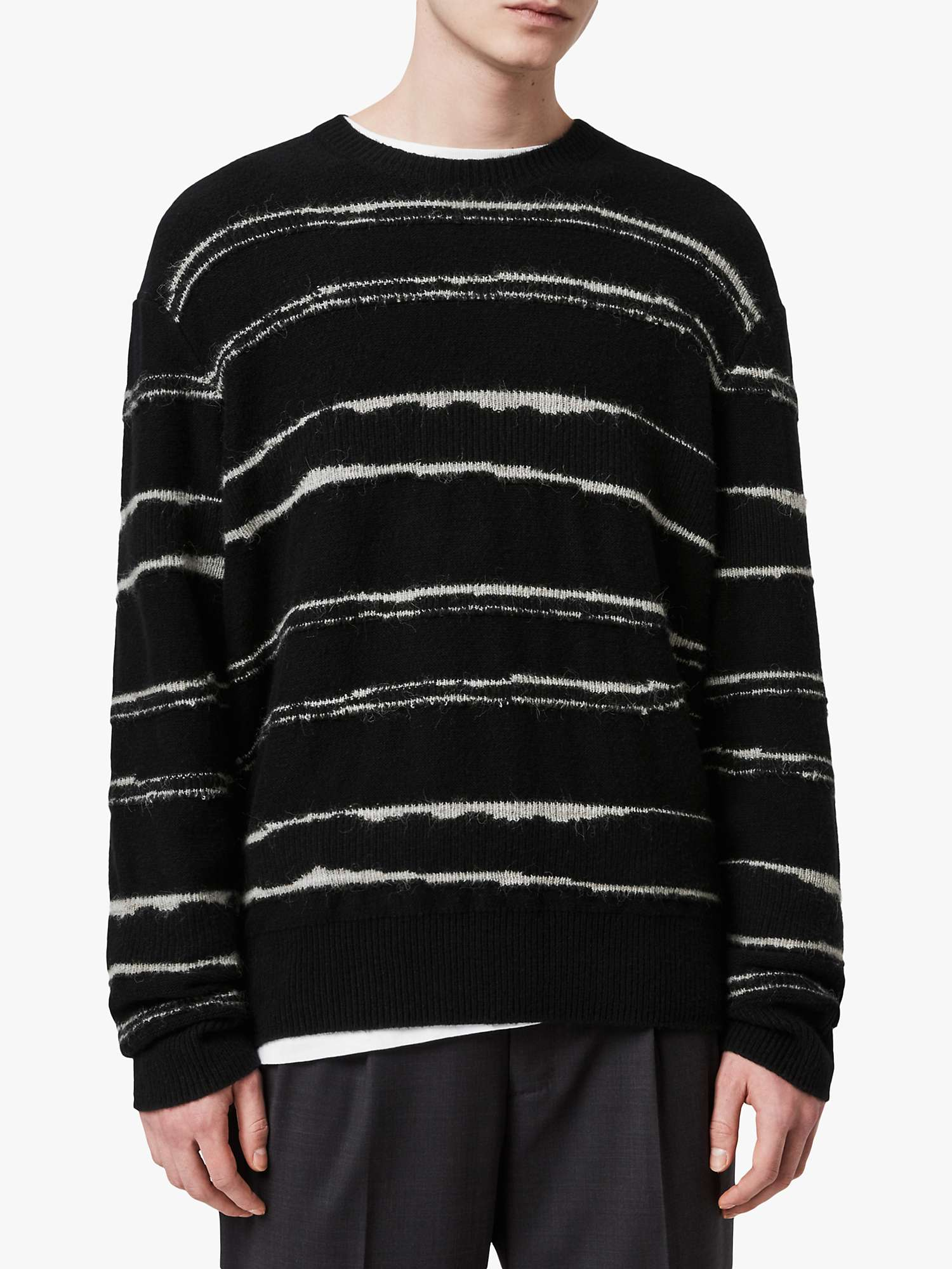 AllSaints Crew Neck Striped Jumpers