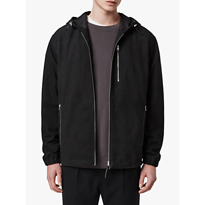 AllSaints Mell Showerproof Leather Jacket, Black